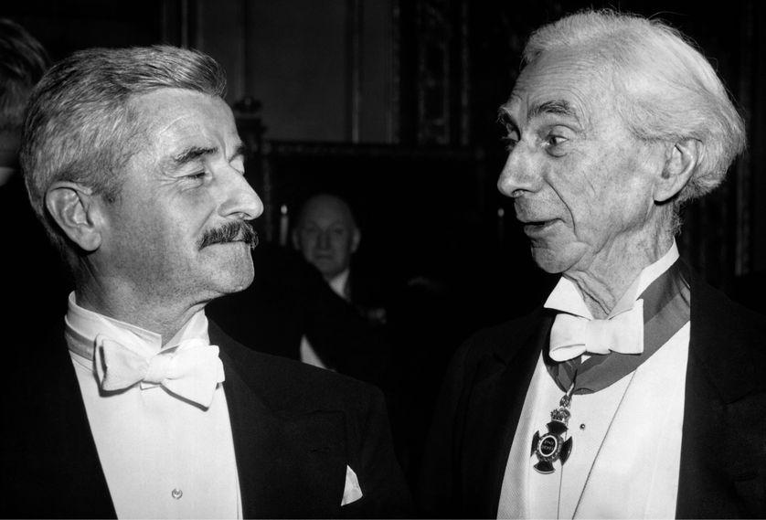 Bertrand Russell avec William Faulkner, 1950