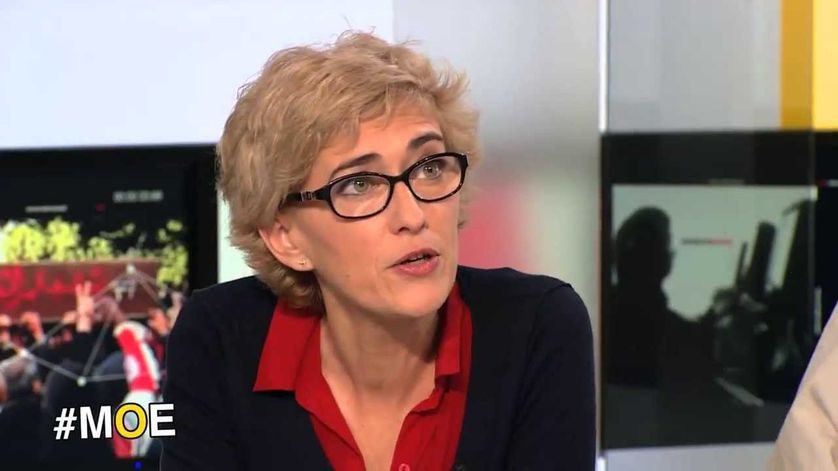 Caroline Donati sur le plateau de TV5