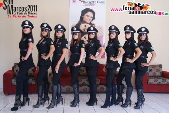 Les policières d'Aguacalientes