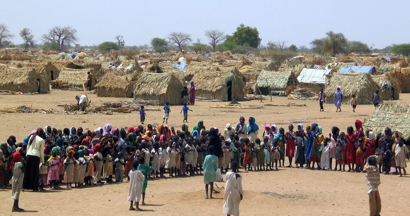 Un camp de réfugiés, il y a 12 ans déjà, dans la province du Darfour