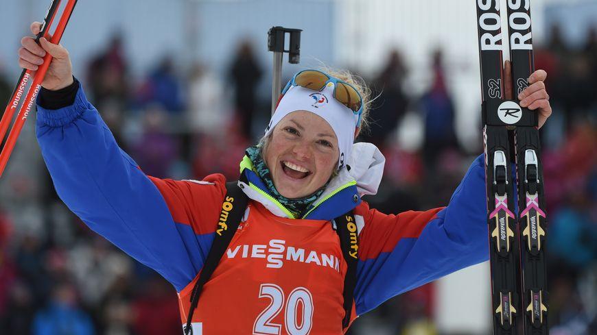 Marie Dorin-Habert, médaillée d'or.