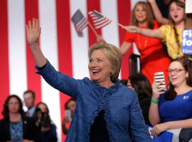 Hillary Cliton vient de remporter cinq nouveaux états dans la primaire américaine