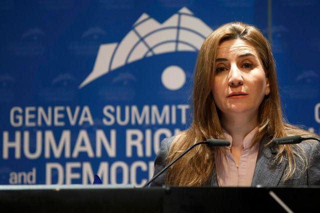 Vian Dakhil, Députée représentante des Yézidis au parlement irakien, au 8e sommet des droits humains et de la démocratie