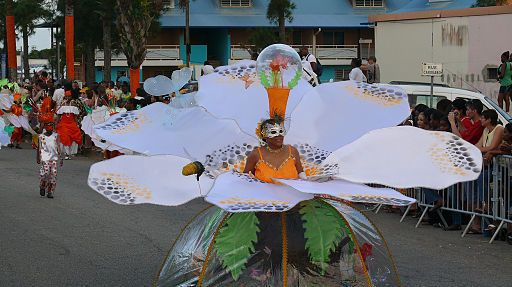 Carnaval à Kourou - danseuse en fleur