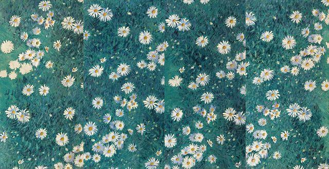 Caillebotte Parterre de Marguerites
