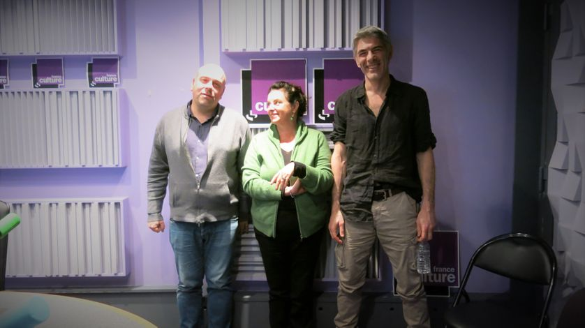 France Culture, studio 153... Sylvain Maurice, Aline Pailler & Philippe Maymat