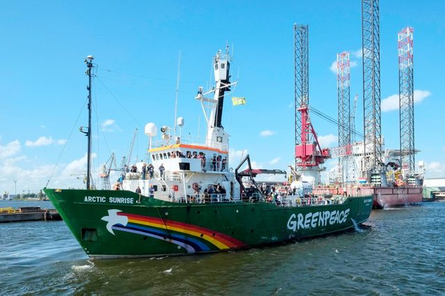 Le navire Arctic Sunrise de retour à Amsterdam, 2014