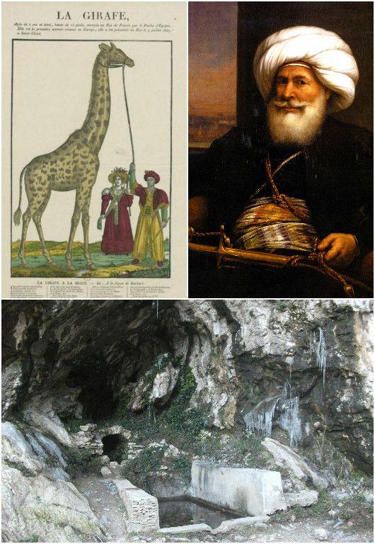 Le pacha Mehemet Ali et la fontaine de Voyre où Joseph Mery chercha la girafe