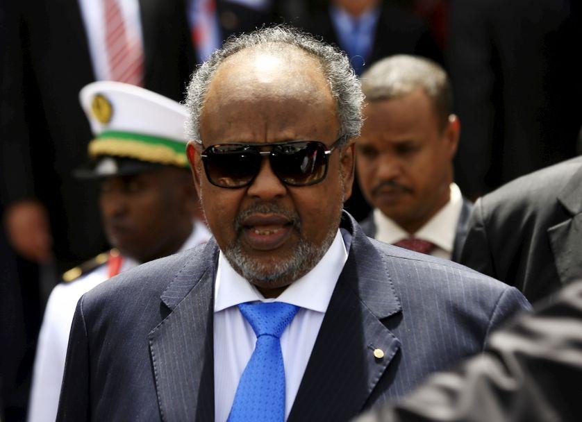 Le président de Djibouti Ismaïl Omar Guelleh, en 2015, au Soudan