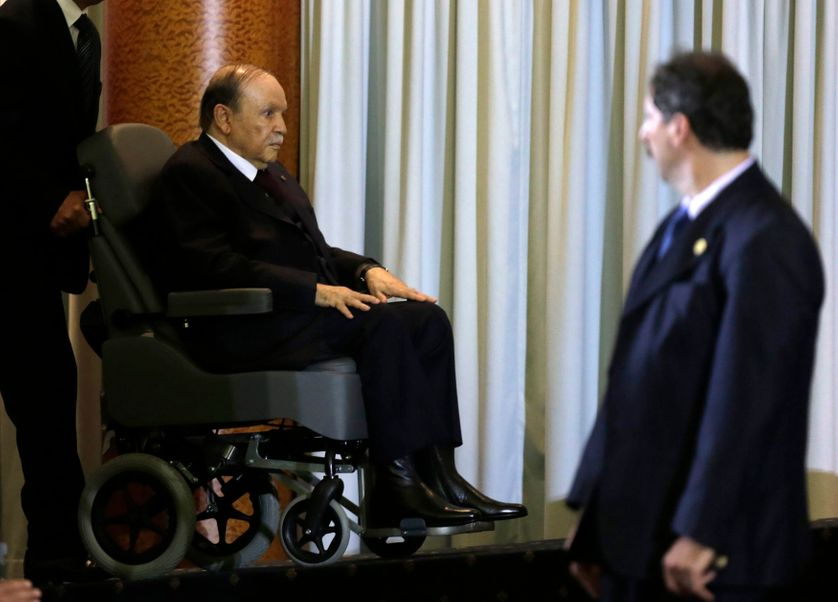 Le President Abdelaziz Bouteflika le 28 mars 2016 à Alger