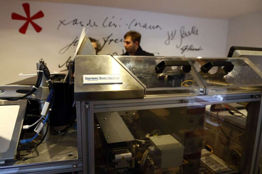 L'Espresso Book Machine de la nouvelle librairie des PUF