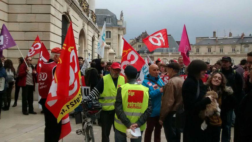 La manifestation du 31 mars 2016 contre la loi travail à Dijon.