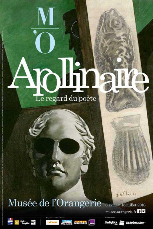 Affiche Apollinaire au musée de l'Orangerie-Portrait (prémonitoire) de Guillaume Apollinaire, 1914