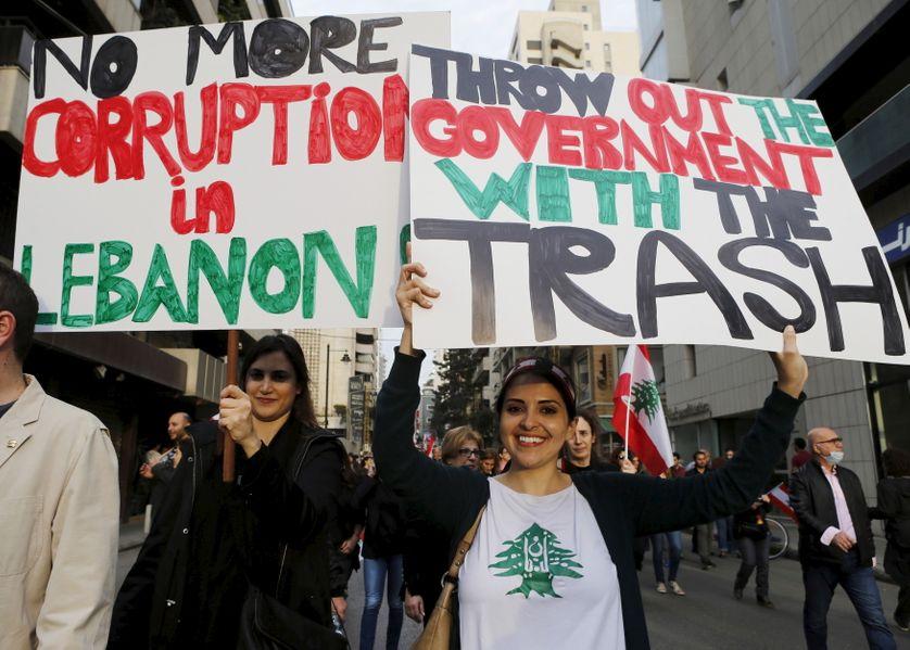 Manifestation anti-gouvernementale à Beyrouth le mois derneir