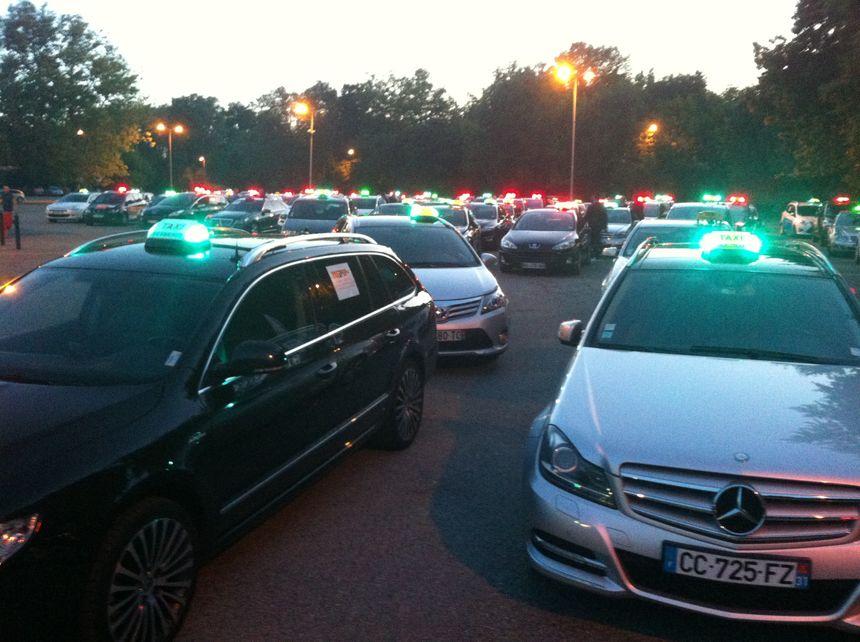 Les taxis toulousains en première ligne de la contestation depuis un an.