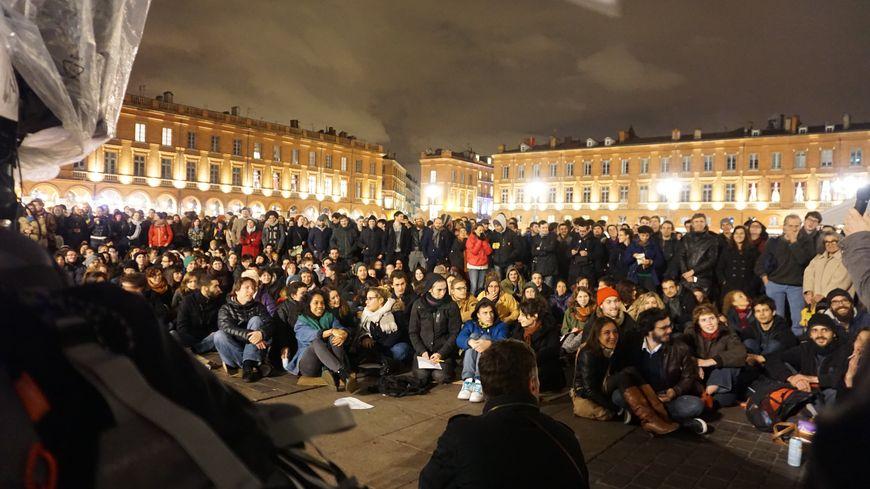 Le premier soir à Toulouse, le 5 avril.