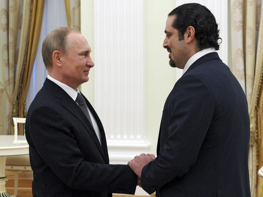 Saad al-Hariri reçu à Moscou par le président Poutine, il y a dix jours