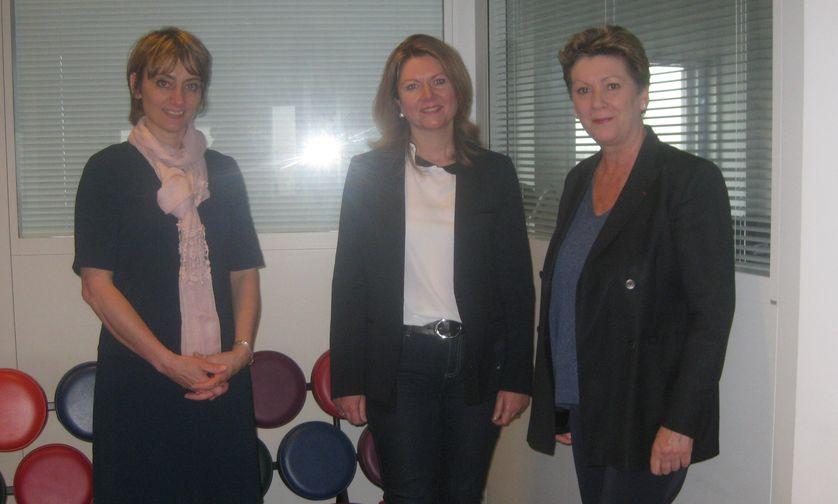 Hélène Romano, Violaine Blain, Florence Rault