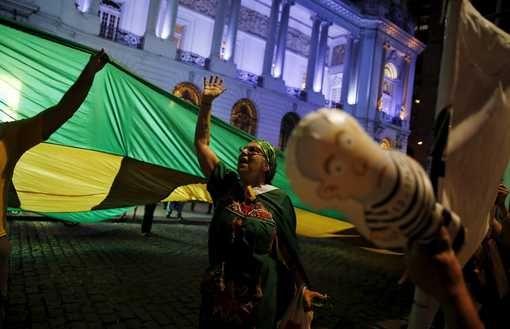 Manifestation anti-gouvernement et Rousseff, Rio, Brésil, 4.04.2016