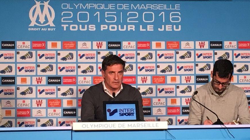 Michel l'entraîneur de l'OM, avant Bastia / Marseille