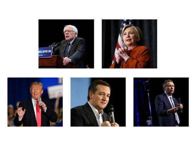 Présidentielle US : les cinq candidats encore en lice