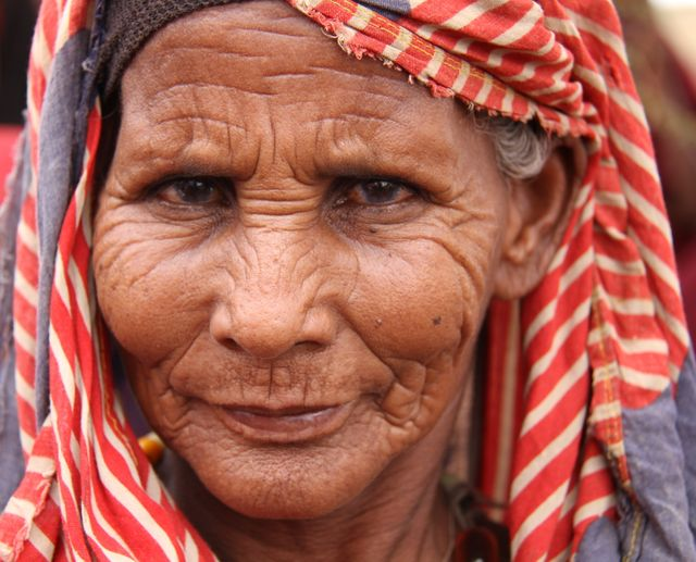Une vieille femme somalienne