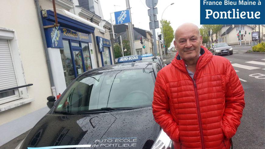 Richard Zimmer, patron de l'auto-école de Pontlieue