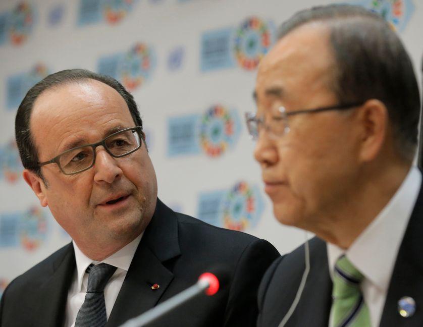 Fançois Hollande et Ban Ki-Moonà l'ONU ce vendredi