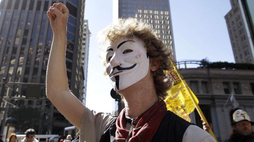 Un activiste Occupy Wall street, un an après la mobilisation de septembre 2011.