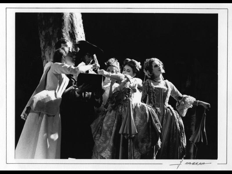Les Acteurs de bonne foi, de Marivaux, mis en scène par Jacques Lassalle en 1987