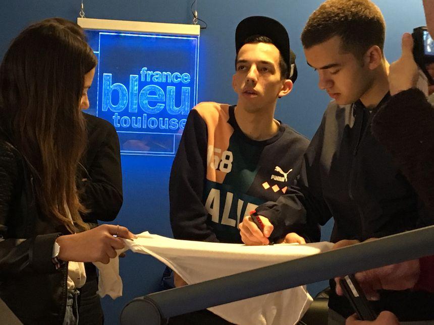 Florian et Olivio sont venus en mars dans les studios de France Bleu Toulouse