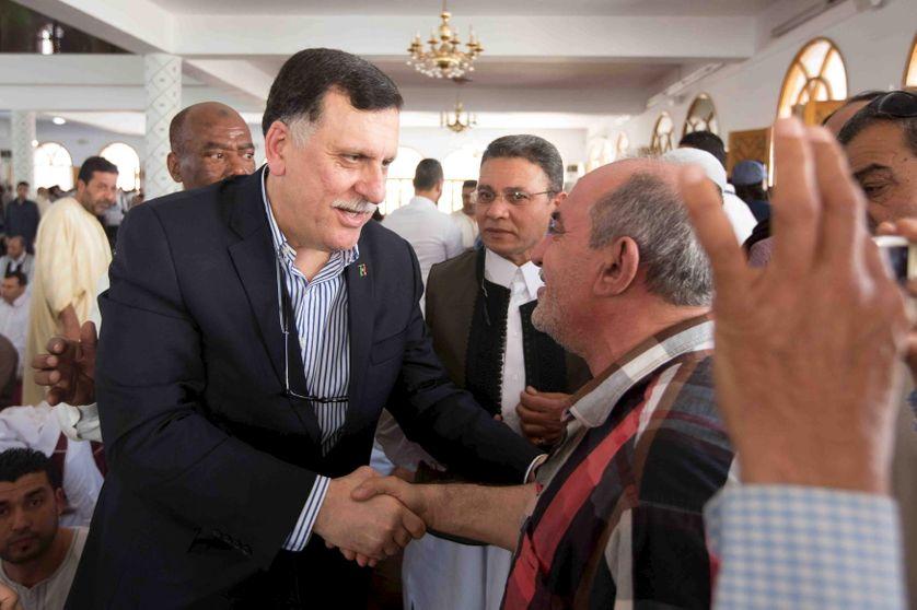 Le chef du gouvernement d'unité nationale Fayez al-Sarraj à Tripoli le 1/4/16