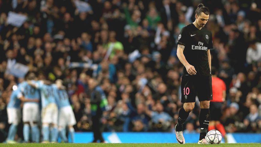 Ibrahimovic après le but de Manchester City (1-0) élimination PSG 1204