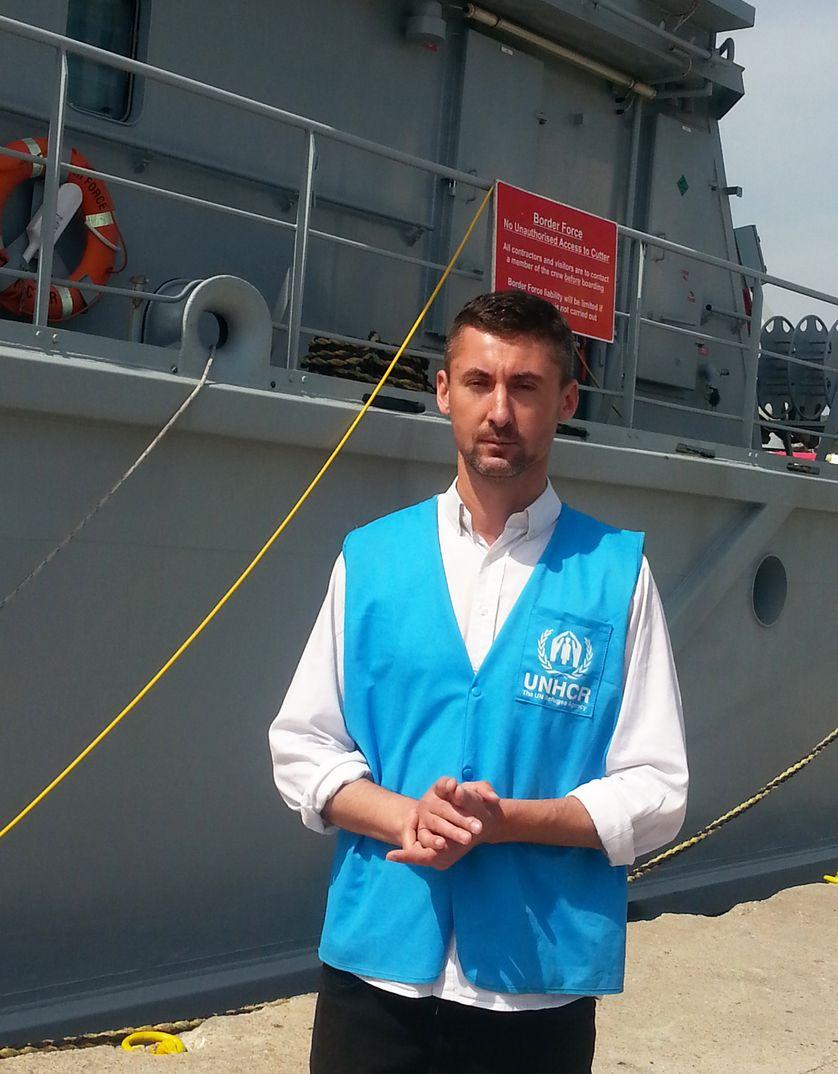 Boris Cheshirkov, le porte-parole du UNHCR sur l'île de Lesbos