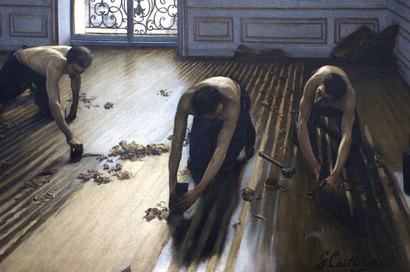 """""""Les Raboteurs de parquet"""", de Gustave Caillebotte."""