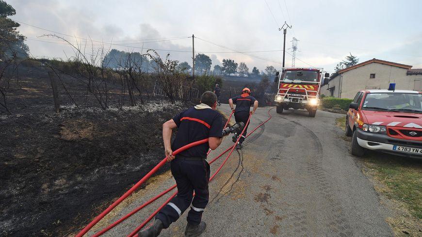 En juillet dernier, un feu de forêt s'était propagé jusqu'à Châteauneuf.