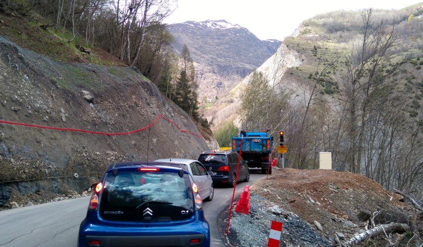 Un feu a été aménagé sur la route de secours