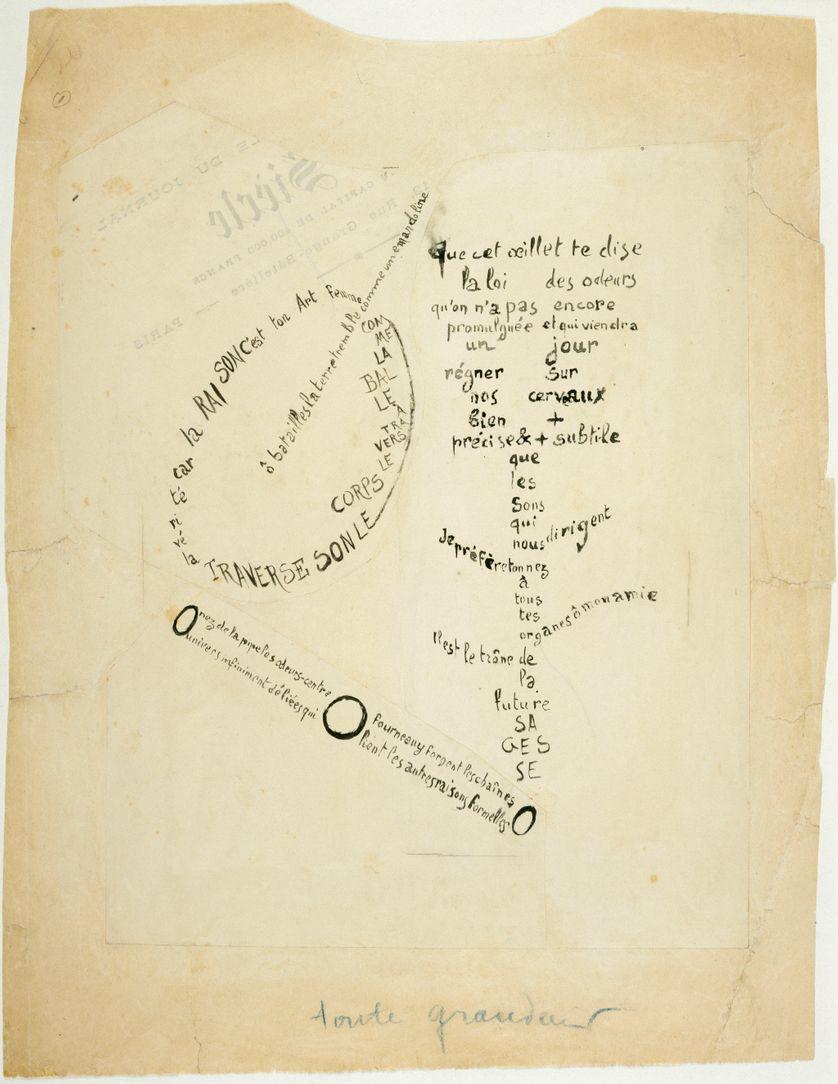 La Mandoline, l'Oeillet et le Bambou: calligramme de la série Etendards 1914-15