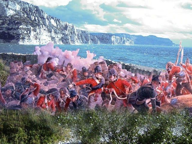 L'assaut des batteries du Cap Morgiou par la Royal Navy