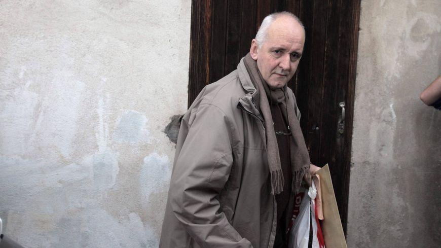 Dany Leprince lors de sa libération conditionnelle en 2012