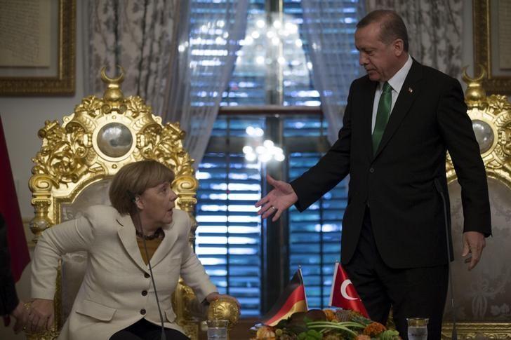 La chancelière allemande Angela Merkel et le président turc Tayyip Recep Erdogan