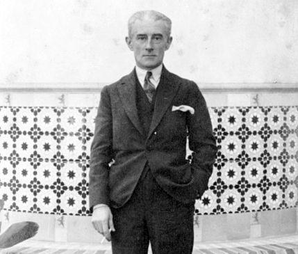Maurice Ravel à Malaga en novembre 1928