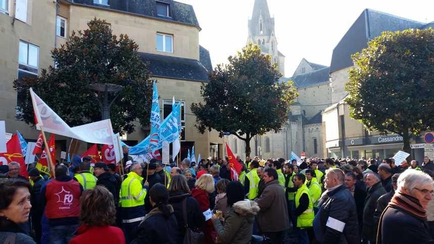 Le 3 décembre dernier, plus de 400 agents se sont déjà mobilisés