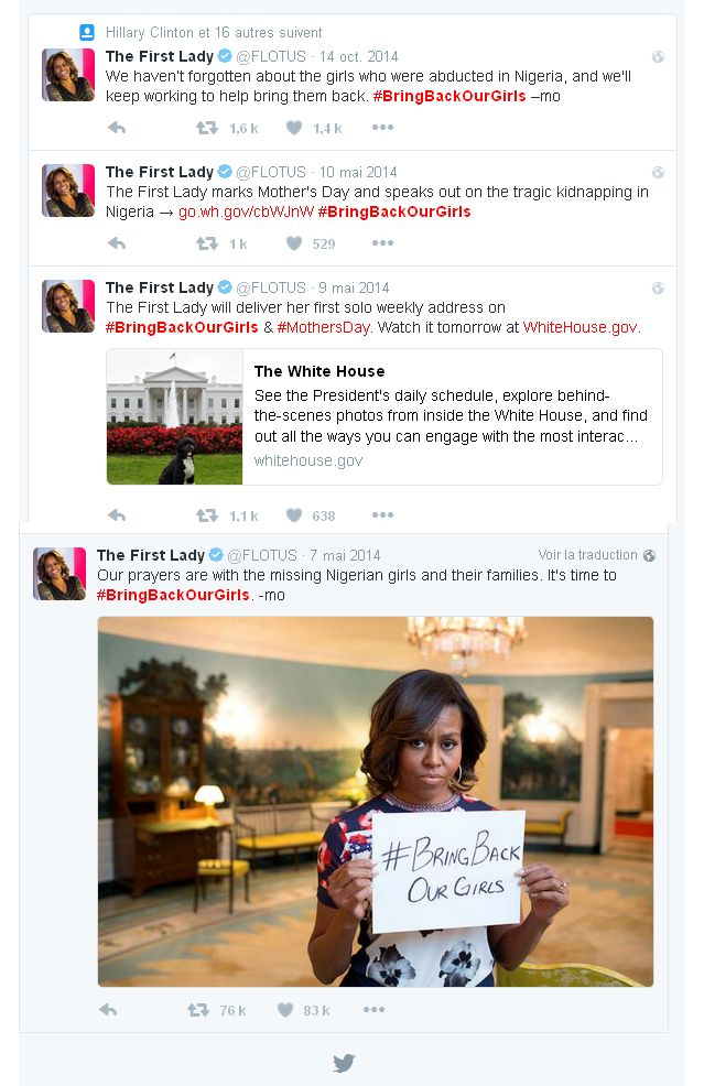 Les premiers tweets de Michele Obama