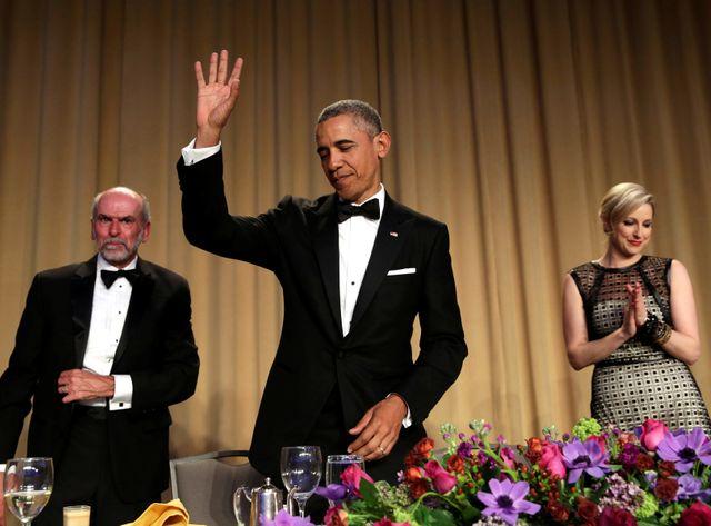 Barack Obama lors de son dernier dîner de gala des correspondants de la Maison Blanche
