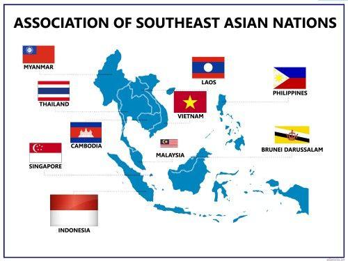Les pays qui constituent l'association économoqie ASEAN