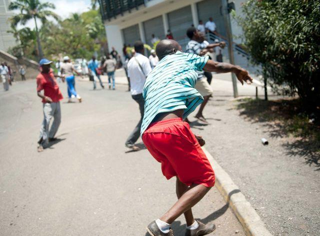 Mamoudzou, incidents durant la grève générale de 2011