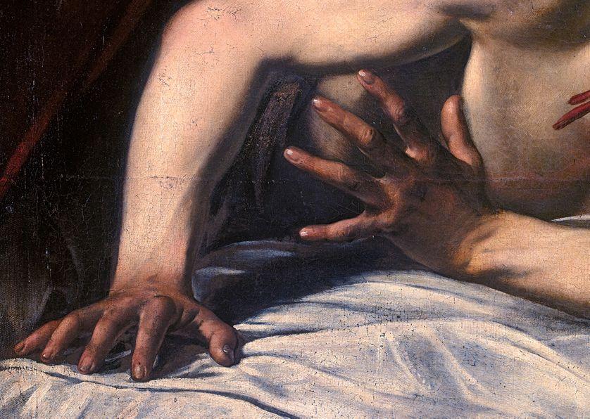 Détail du doigt d'Holopherne