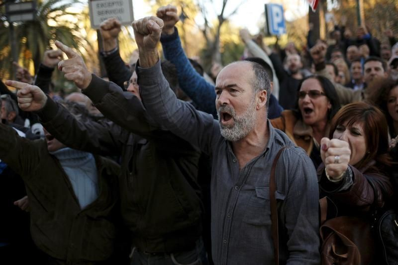 Manifestation à Malaga en mars 2016