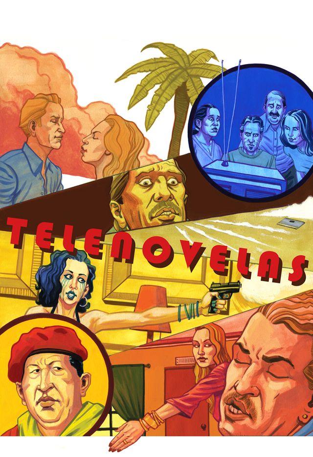 Illustration du magazine Stopover évoquant la prédominance des telenovelas en Amérique du Sud